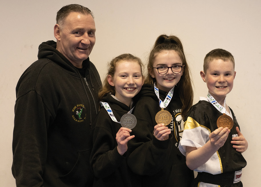 Martin Bannon, Anna White, Shauna Fitzpatrick and Leo Goulding with their medals